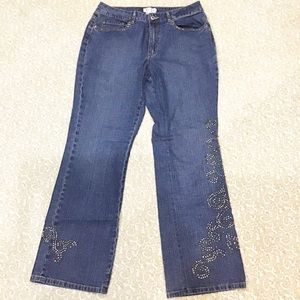 Coldwater Creek Studded Boot Cut Jeans